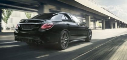 Mercedes classe c en vitesse